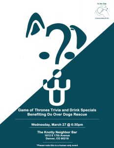 Game of Thrones Triva and Drink Specials @ The Knotty Neighbor Bar